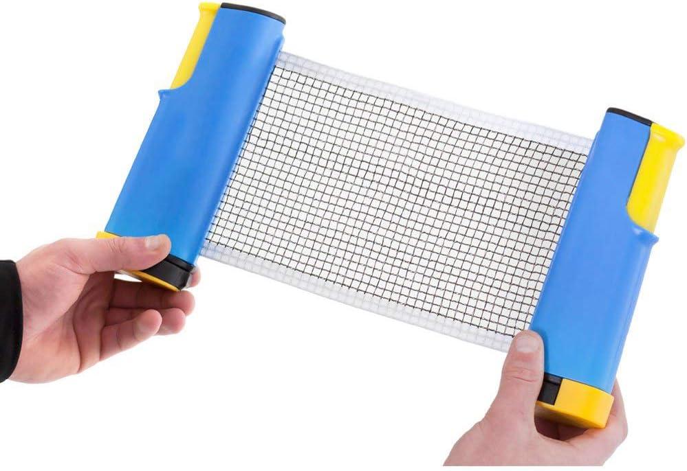 Table Tennis Net Rack/Reemplazo Accesorios de Tenis de Mesa/Reemplazo portátil de Red retráctil - Adecuado para Tenis de Mesa Mochila de Tenis de Mesa,Blue