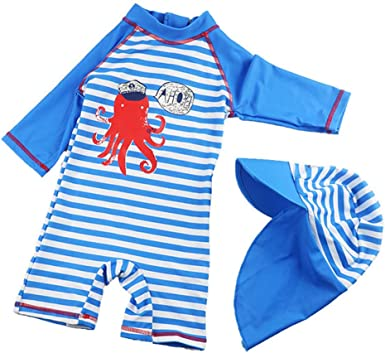 First Impressions Infant Boys 2PC Octopus Long Sleeve Rash Guard Swim TRANKS UPF 50 12M