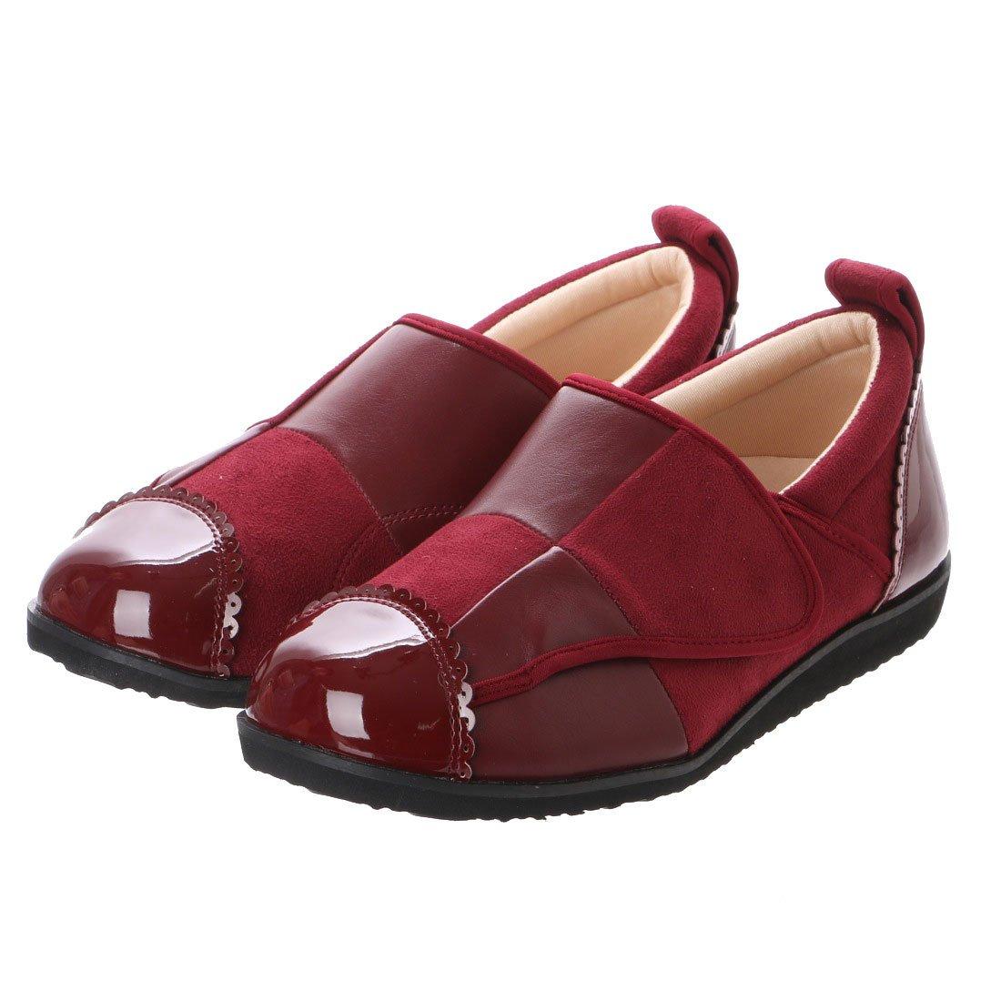 パネルデザインが足を立体的に包み込みます。(クラース)カノン 婦人靴 ウェルネスシューズ コンフォートシューズ B01N7T452L L(24cm~25cm)|ボルドー ボルドー L(24cm~25cm)