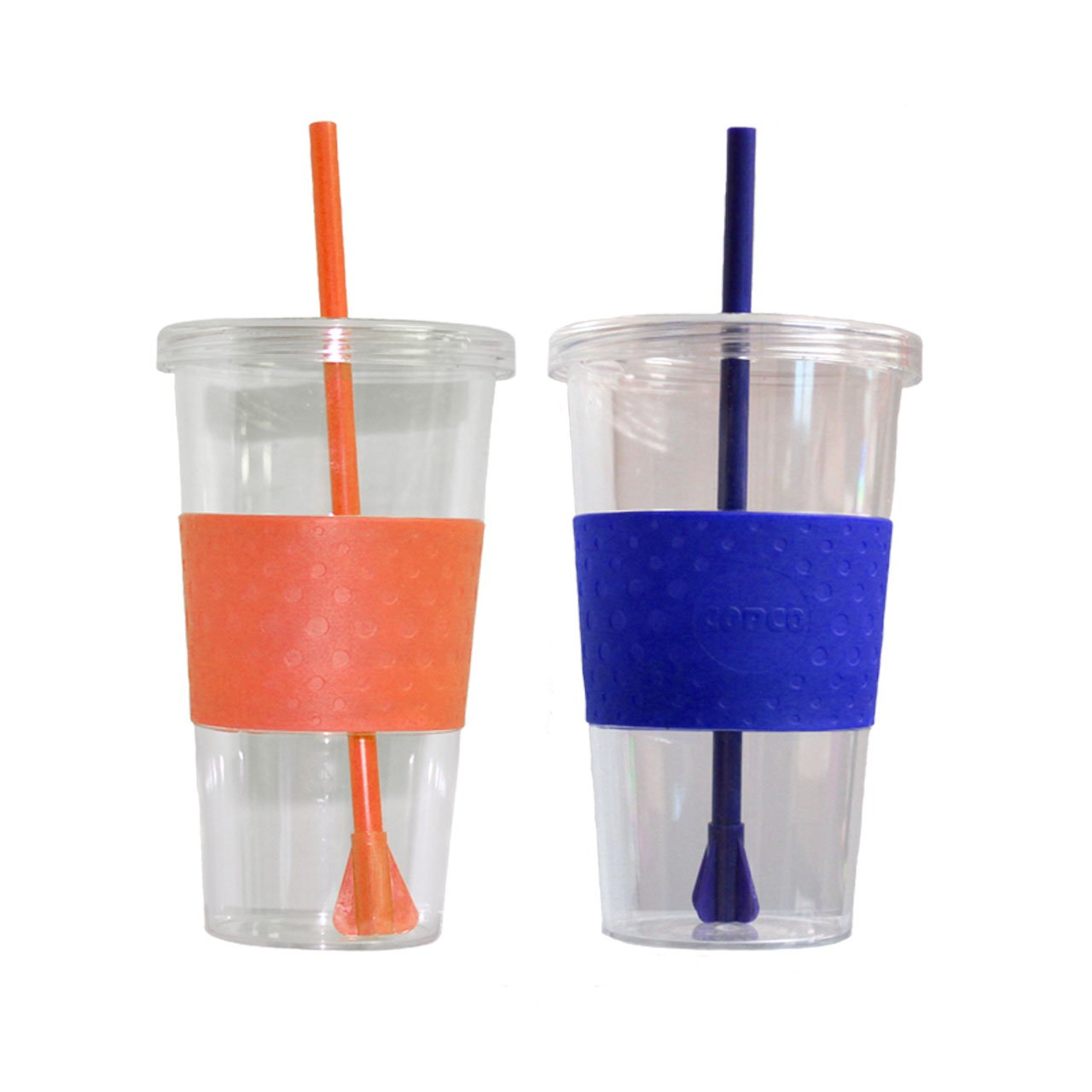 Hot Pink, Purple, Royal Blue /& Orange Pack Of 4 CupAll Copco Sierra Cold Tumbler 24-Ounce Capacity