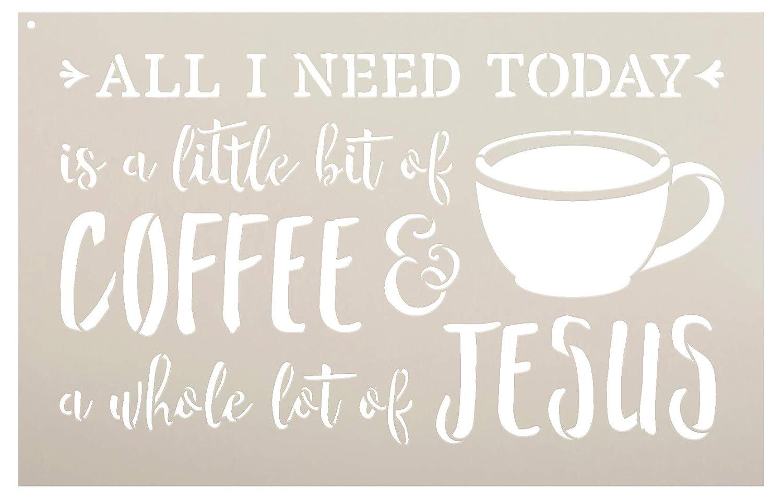 Amazoncom Little Bit Of Coffee Whole Lot Of Jesus Word Art