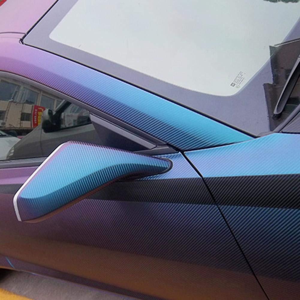 Feuille De Corps Auto-adh/ésive Discolor Violet /À Bleu Feuille De Bricolage Extensible Bricolage Anti-/égratignure Automatique Katurn 50X 150 cm Autocollant De Fibre De Carbone De Voiture Cam/él/éon
