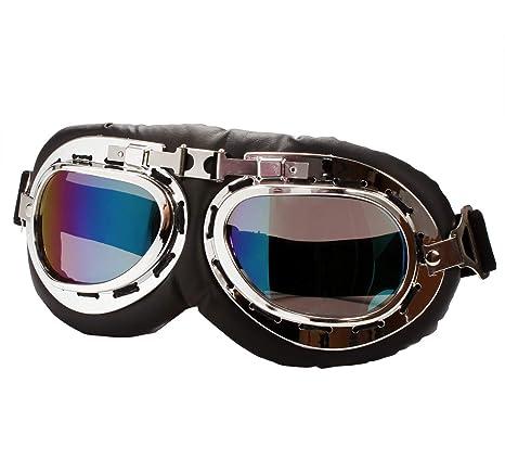 Amazon.com: TYSKL Gafas de motocicleta retro, anti UV ...