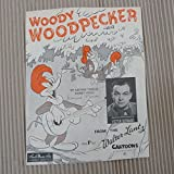 song sheet WOODY WOODPECKER Victor Bernard , 1948
