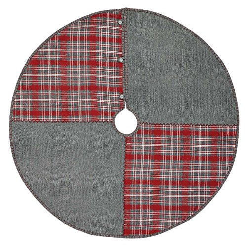VHC Brands Holiday Decor Anderson Patchwork Tree Skirt, 48 Diameter, ()