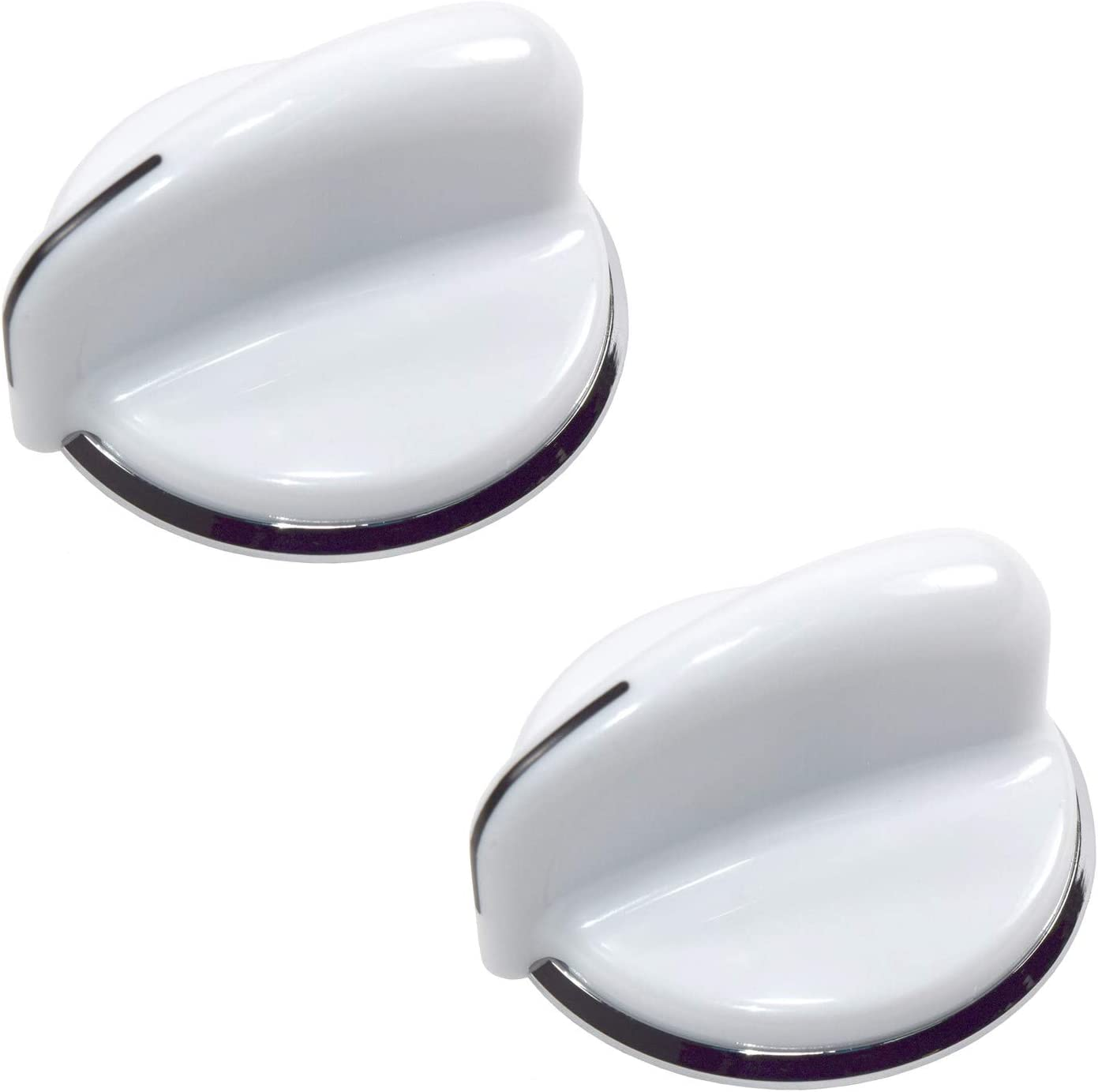 HQRP 2-Pack Washer/Dryer Control Knobs Replacement for General Electric GE WE01X20378 AP5806667 175D3296P001 WH01X10107 WH01X10060 WH01X10460 3280609 PS9493075 WE01X20432 WH01X10307 plus HQRP Coaster