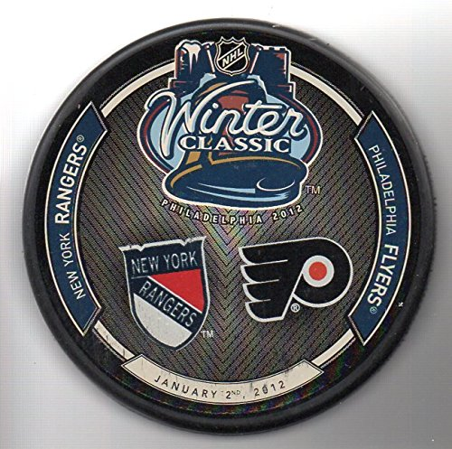 2012 Winter Classic Philadelphia Flyers vs New York Rangers NHL Hockey Puck + FREE ()