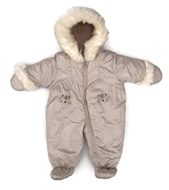 0971dd0bdd78 London Fog Baby Girls Sweet Quilted Faux-Fur Trimmed Snowsuit