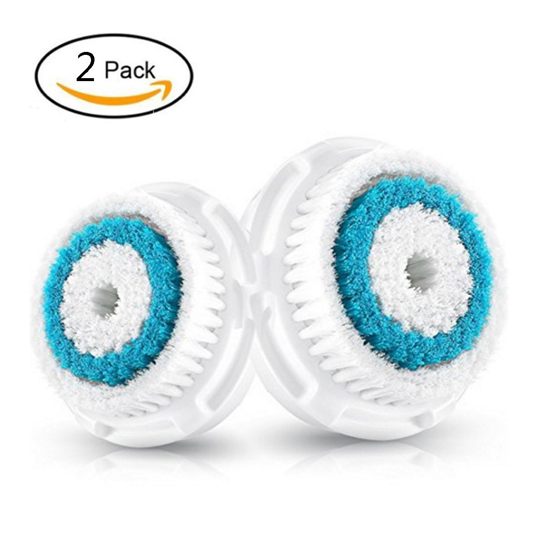 2-Pack Deep Pore Cleanse Brush Head Replacement for Facial Cleanser | Compatible with Mia, Mia2, Mia3 (Aria), Mia Fit, Alpha Fit, Smart Profile, PLUS, PRO