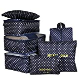 7-Piece Packing Cube Set- Travel Luggage Packing Organizers with Shoe Bag