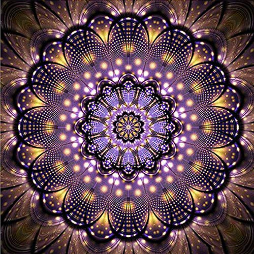 5D Diamond Painting Kits for Adults Kids Full Drill Diamond dotz for Home Wall Decor Purple Sun Flower 11.8x11.8in 1 by JU-JXIONG ()
