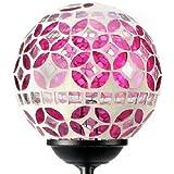 Solaration 1024 Solar Mosaic Glass Ball Light for Garden Decoration, Garden Stake Yard LED Light for Great Gift!