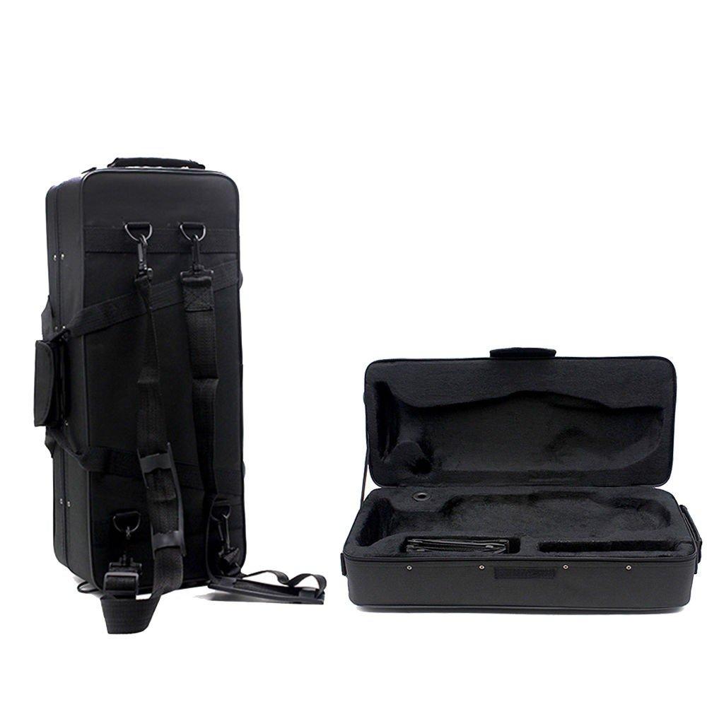 New Fashionable Musical Trumpet Hard Case Big Bag Case Black