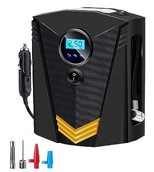 Compresor de Aire,SEEHAN Digital Inflador Portátil Automático para Neumáticos Bomba de Neumático Auto DC