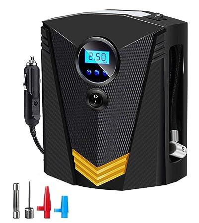 Compresor de Aire,SEEHAN Digital Inflador Portátil Automático para Neumáticos Bomba de Neumático Auto DC 12V Inflado Rápido de 22 Cilindros para Neumáticos ...