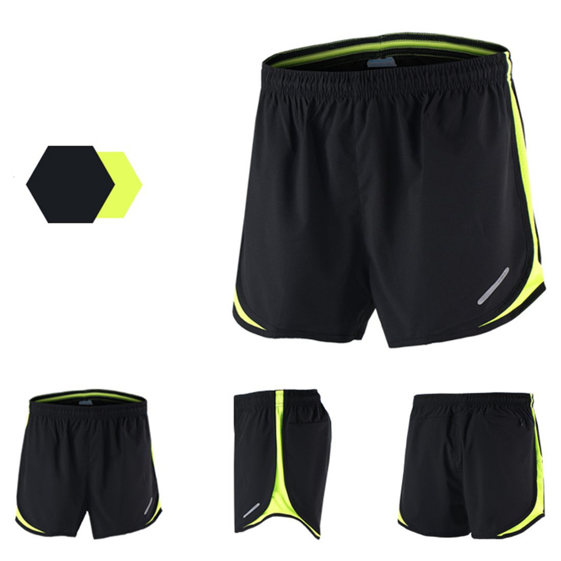 X-Labor Herren Sport Marathon Shorts Kurz Laufhose mit Innenslip Fitness Gym Yoga Laufshorts Trainingsshorts Sporthose