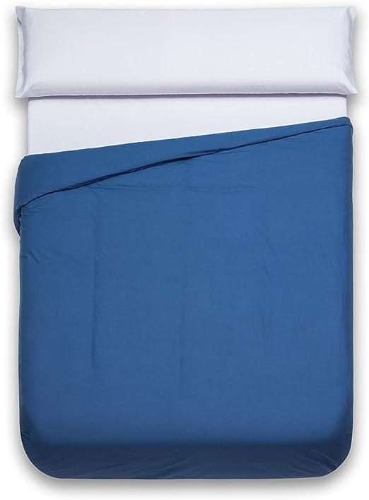 Sancarlos - Funda nórdica lisa, 100% Algodón, Color azul marino ...