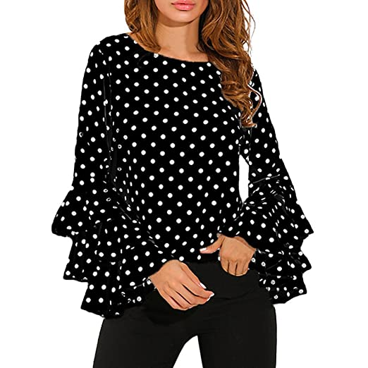 beb66817ffb7b GONKOMA Women Cold Shoulder Blouse Pullover Tops Casual Long Sleeve ...
