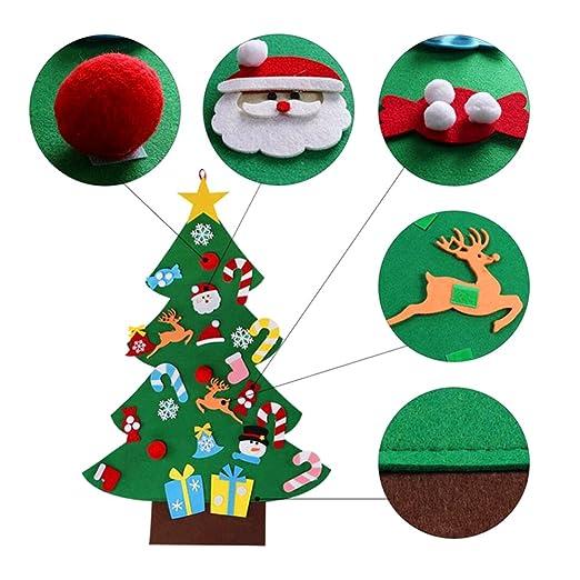 Gosear DIY Fieltro árbol de Navidad decoración Navidad Fiesta Pared Colgante Ornamento para niños Regalo casa Oficina Tienda Ventana decoración: Amazon.es: ...