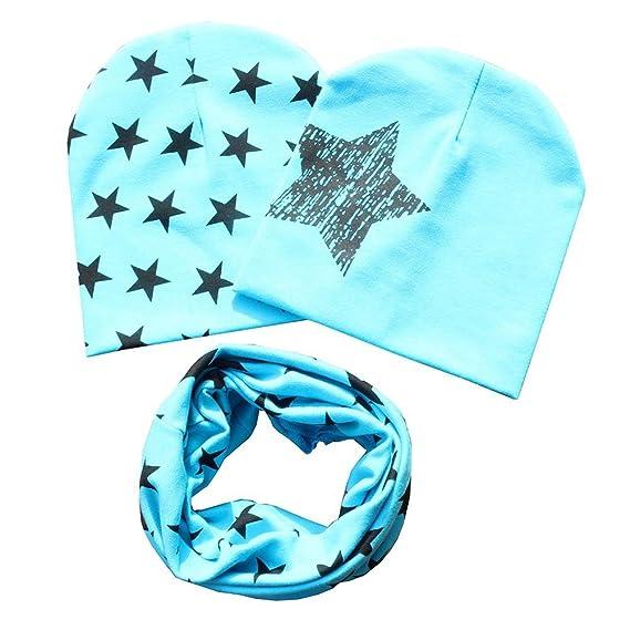 Gyratedream Baby M/ütze Schal Set Neugeborenen Sterne Gedruckt Hut Halstuch 3 Pack Sets 0-3 Jahre Unisex Kleinkind