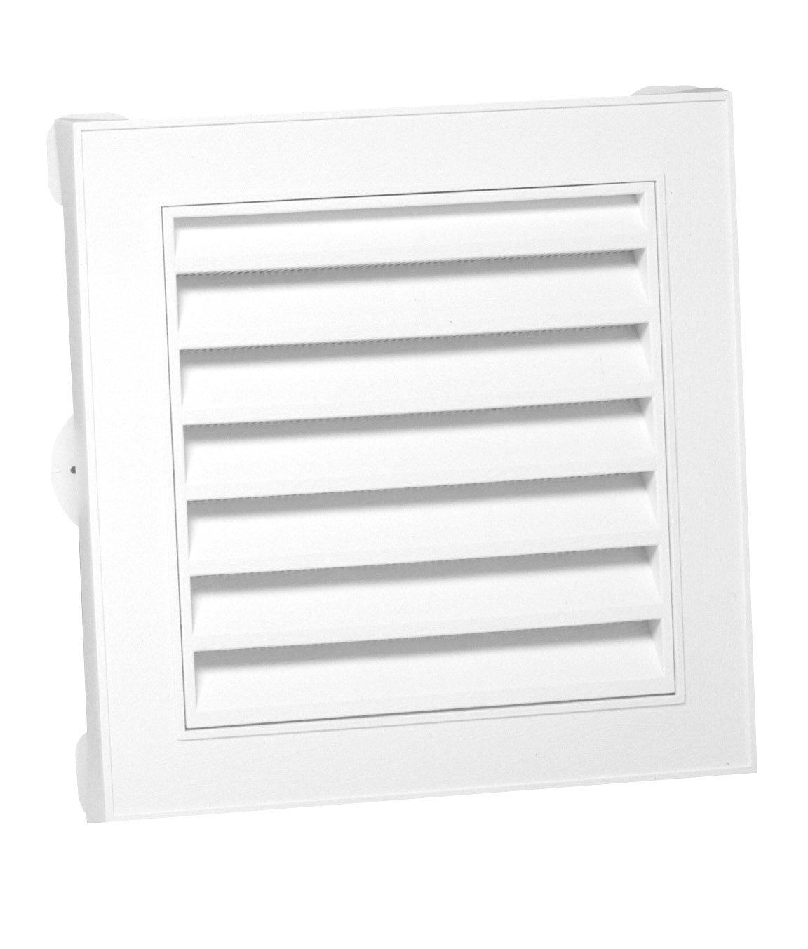 Duraflo 626045-00 18-Inch Square Gable Vent, White