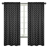 Sweet Jojo Designs Black and White Woodland Arrow Window Treatment Panels Curtains for Rustic Patch Collection – Set of 2