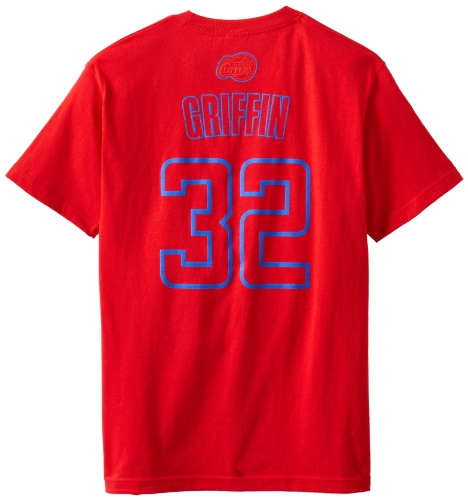 NBA Los Angeles Clippers Blake Griffin Men's Latin Night Name and Number Tee, Red, Medium