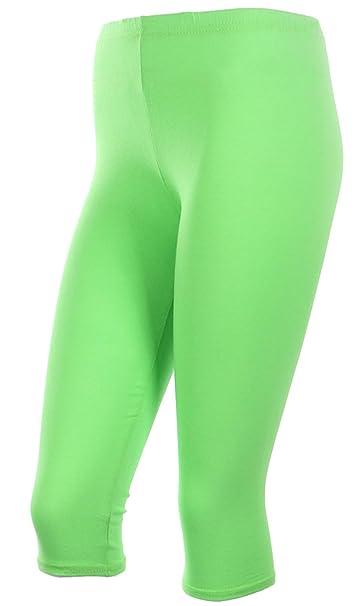 6962c278b61cff Ola Mari Juinors & Jr Plus Sizes Plain Cotton Capri Leggings, 2XL, ...