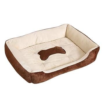 Gugutogo Mascotas Cama Perro Calentamiento Peluche casa Perro PP algodón Mascota Caliente Nido para Gato Cachorro: Amazon.es: Productos para mascotas