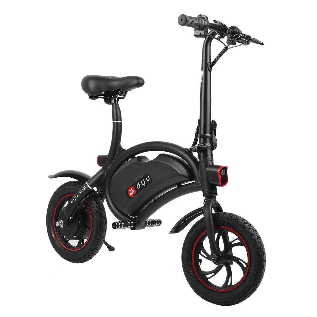f243d7b49eb Genuine store Folding Electric Bike, Luxury Classic E-Bike/Scooter with  12-Inch Wheels, Concealed Battery, 12.4 Mile Range - 2 x 250W Hub Motor |  Team ...