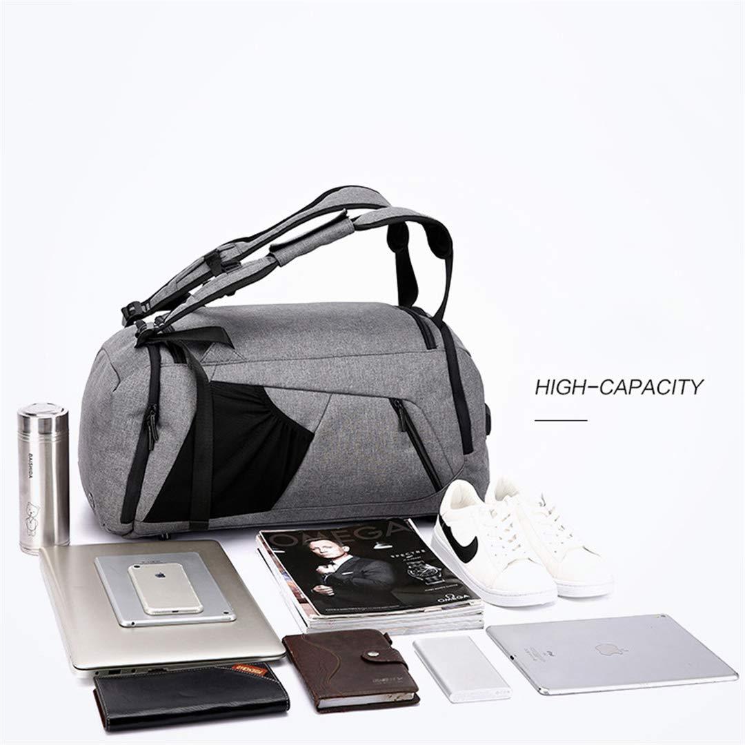 Anti-Theft Travel Multifunctional H Luggage Duffle Bags Backpack Weekend Big Backage Duffel Bag Black