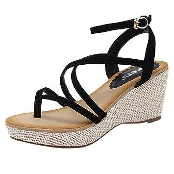f04f496dbe Amazon.com: Fheaven Women Summer Non-Slipp Bandage Cross Sandals ...