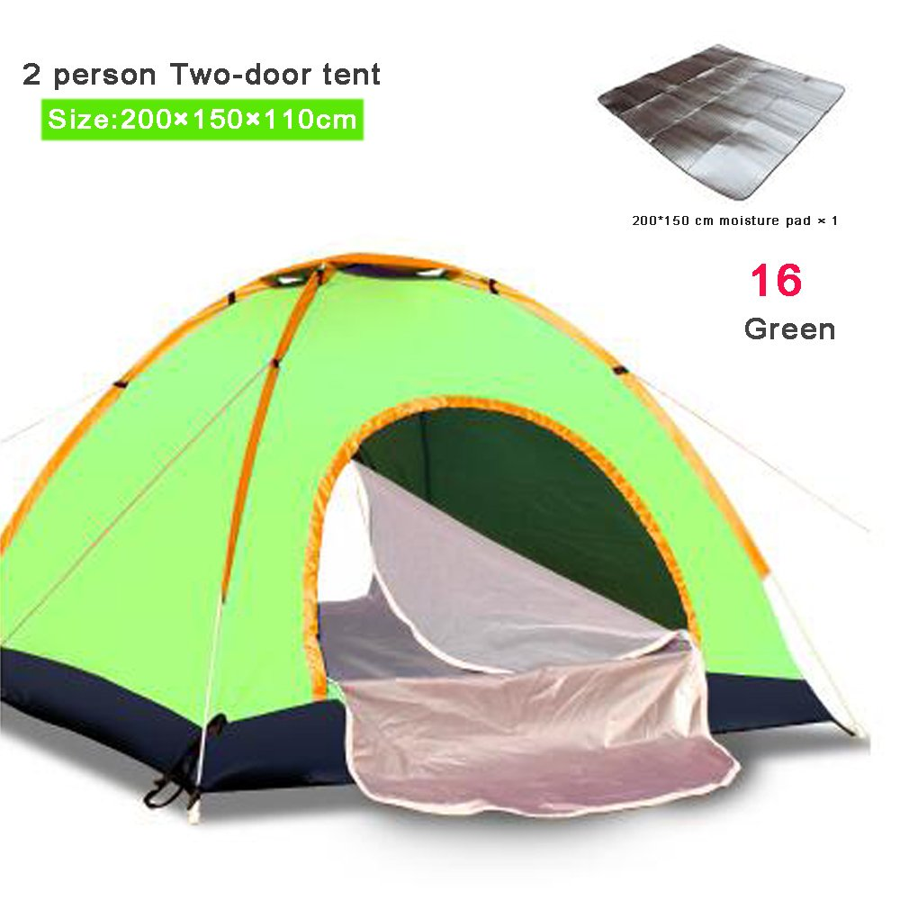 16 Camping Tent 1 2 34 Person Outdoor Waterproof Anti UV Oxford Hiking Beach Tent