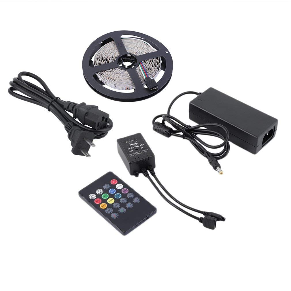 Flexible 3528 IP20 300 LED Strip Light 5M LED Strip Light with Power Supply(Color:RGB)