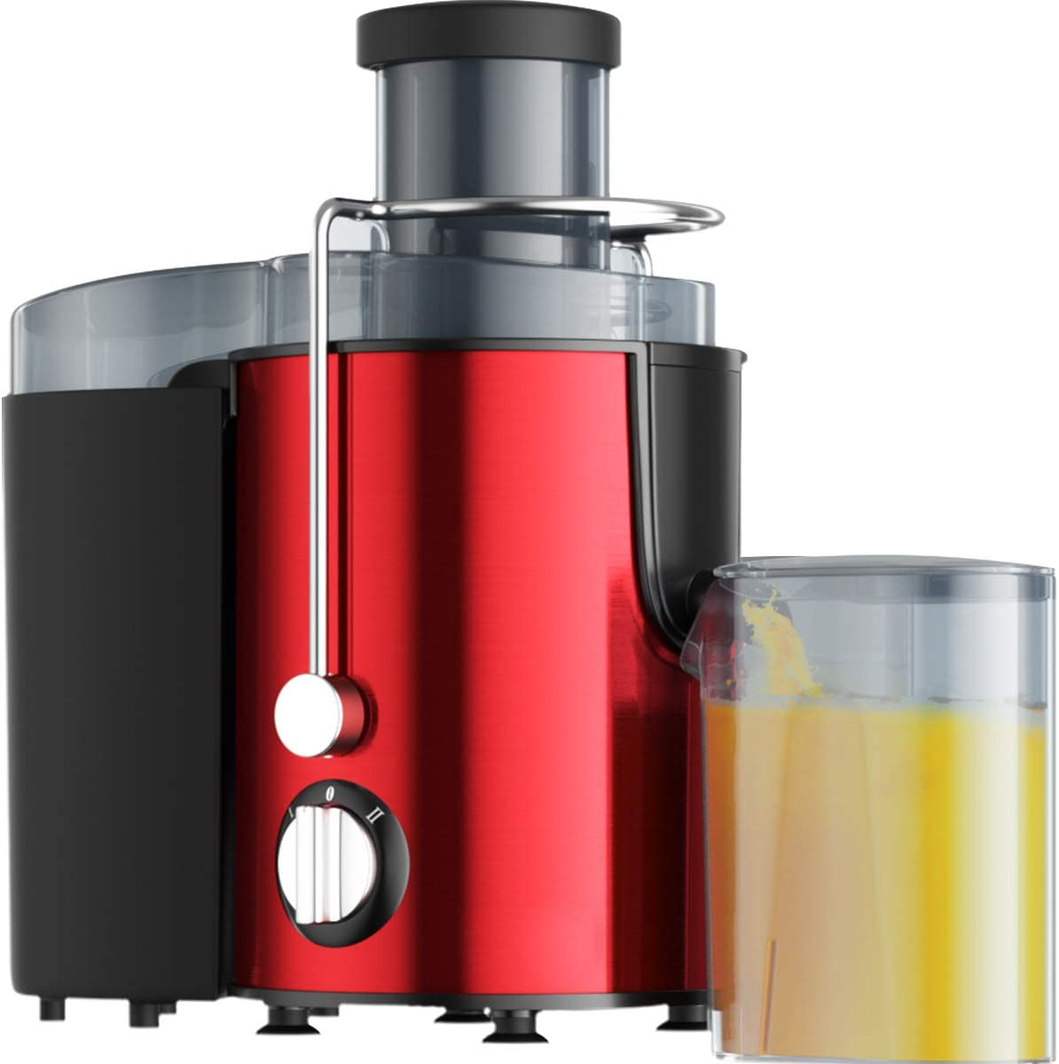 Juicer Wide Mouth Juice Extractor, Juicer Machines BPA Free Compact Fruits & Vegetables Juicer, Dual Speed Centrifugal Juicer with Anti-drip Function, Stainless Steel Juicers Easy to Clean (Red2)