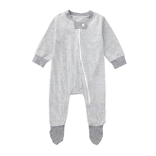 021ebfed0 Amazon.com  Sharemen Newborn Baby Boy Girl Letter Long Sleeve Romper ...