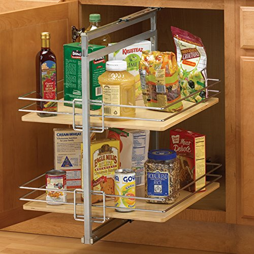 Pull-Out Pantry Units Center Mount, Metal Knape and Vogt P2500CM-FN