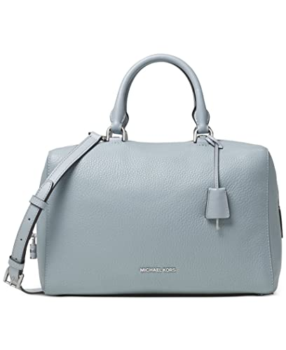 MICHAEL Michael Kors Kirby Large Leather Satchel Dusty Blue ...