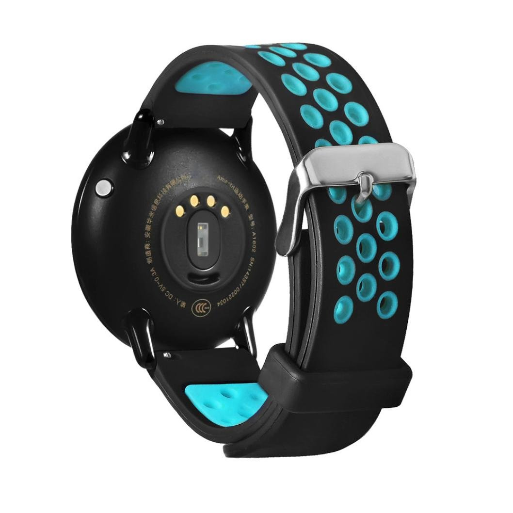 Amazon.com : Seamount 22mm Double Color Permeable Stomata Wristband For Xiaomi Huami Amazfit A1602 (Blue) : Sports & Outdoors