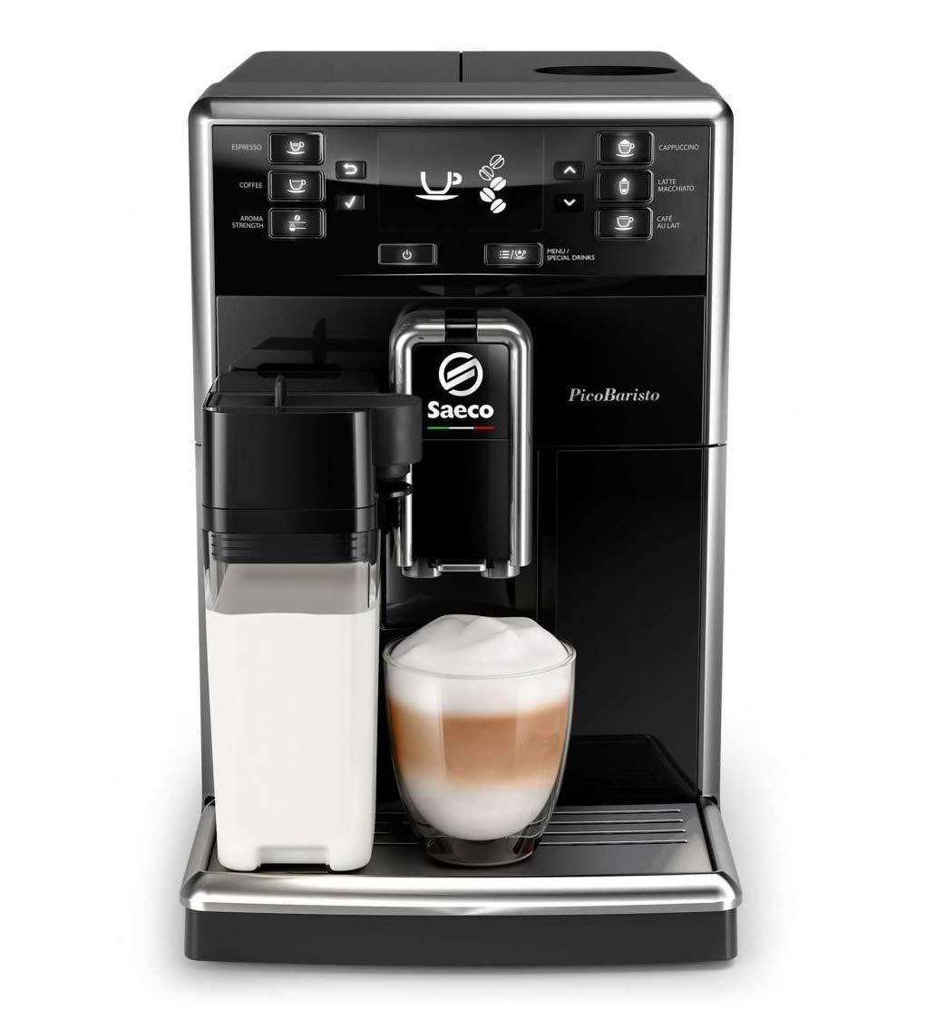 Philips Saeco PicoBaristo SM5460/10 - Cafetera Súper Automática, 11 Bebidas de Café Personalizables, Jarra de Leche Integrada, Limpieza Automática, ...