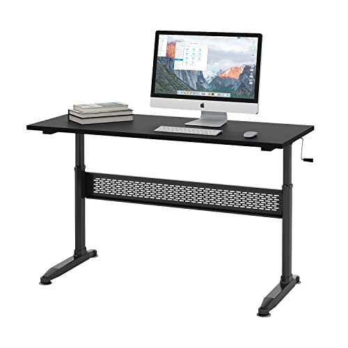 DEVAISE Height Adjustable Standing Desk with Removable Crank, 55