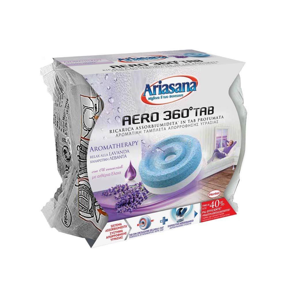 Ariasana Aero 360� Ricarica TAB Lavanda per dispositivo Aero 360� kit, assorbi umidit� in Tab profumata rilassante, elimina i cattivi odori, aromaterapia, 1 TAB x 450g
