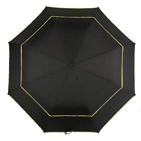 Kongsta 120Cm Umbrella Rain Women Dual-Folding Double Layer Strong Windproof Semi-Automatic Umbrella