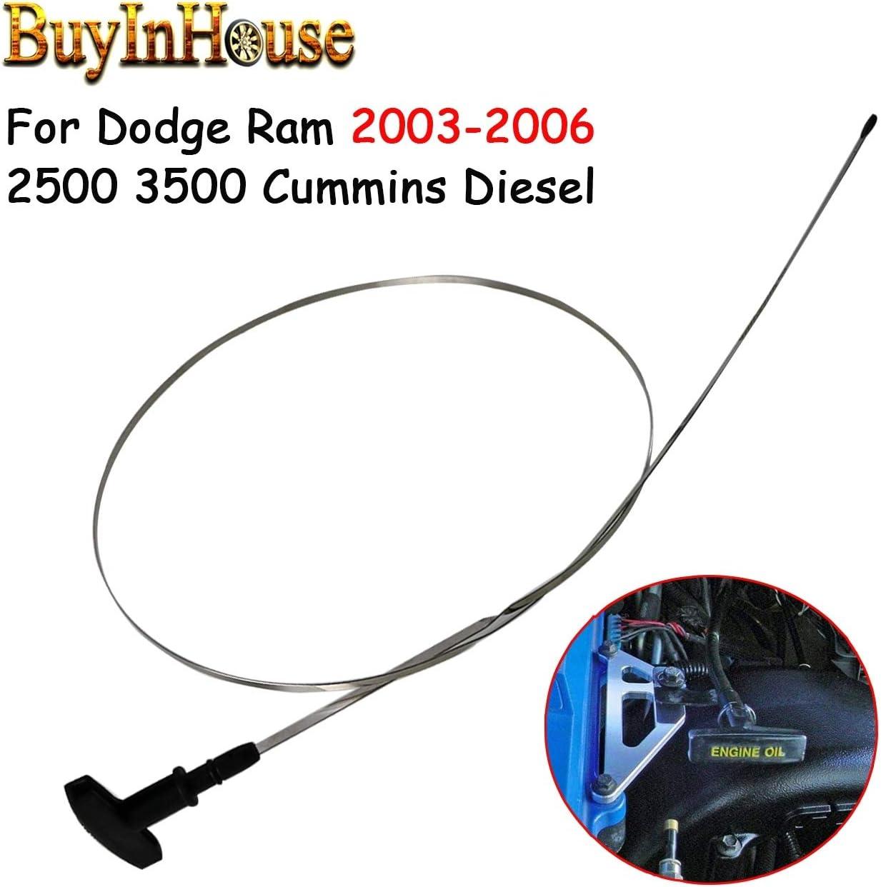 buyinhouse for 2003-2006 Dodge Ram 2500 3500 Cummins Diesel Engine Oil Dipstick Indicator 5.9L