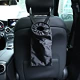 2 PACK Car Trash Bags, Car Vehicle Back Seat Headrest Litter Trash Can Washable Leakproof Eco-friendly Seatback Truck Hanging