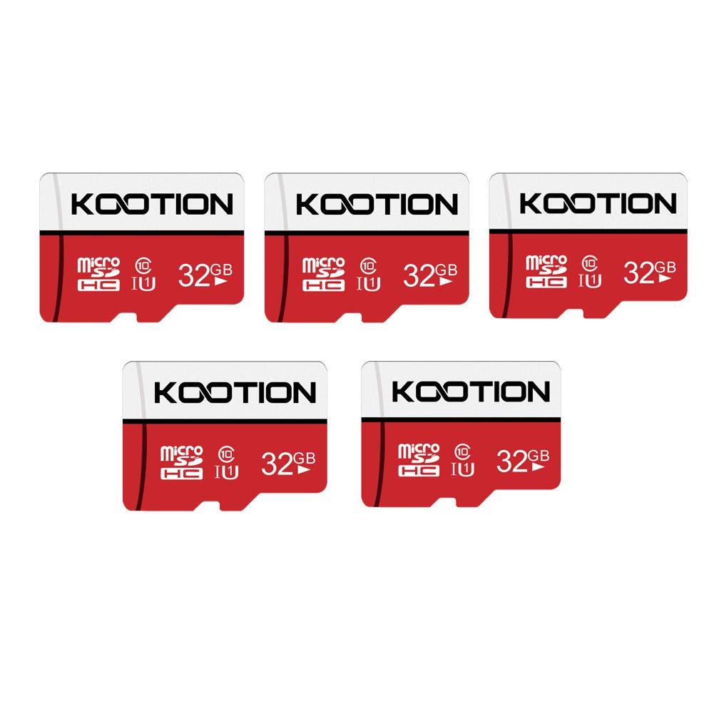 KOOTION 32 GB Micro SD Card Ultra Micro SDHC Memory UHS-I Card Class 10 High Speed TF Card R Flash, C10, U1, 32 GB (5 Pack)