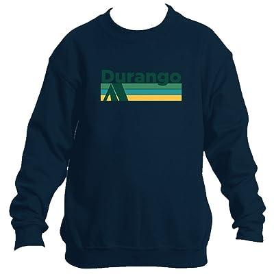 Durango Retro Camping - Colorado Youth Fleece Crew Sweatshirt - Unisex