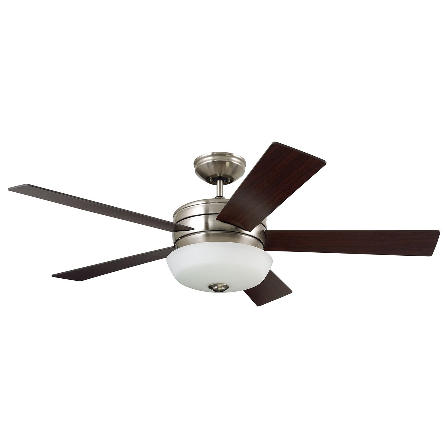 Emerson CF411BS Cronley 54'' Blade Span with integrated light fixture,Includes 4.5'' Downrod and Remote Control with Receiver,Brushed Steel by Emerson