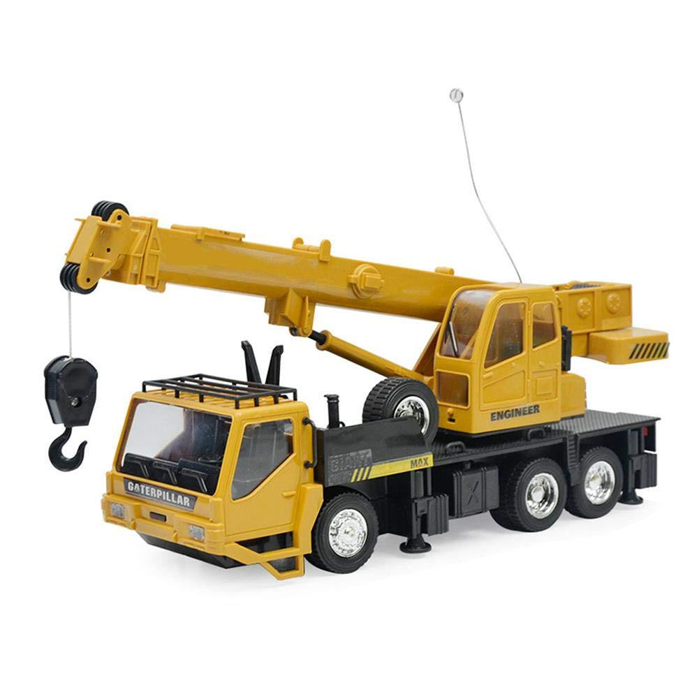 Amazingdeal Fun Early Education Toy RC 8 Channels Engineering Vehicles Toys Plastic Crane Truck Model Kids Gift Creative Education Toy