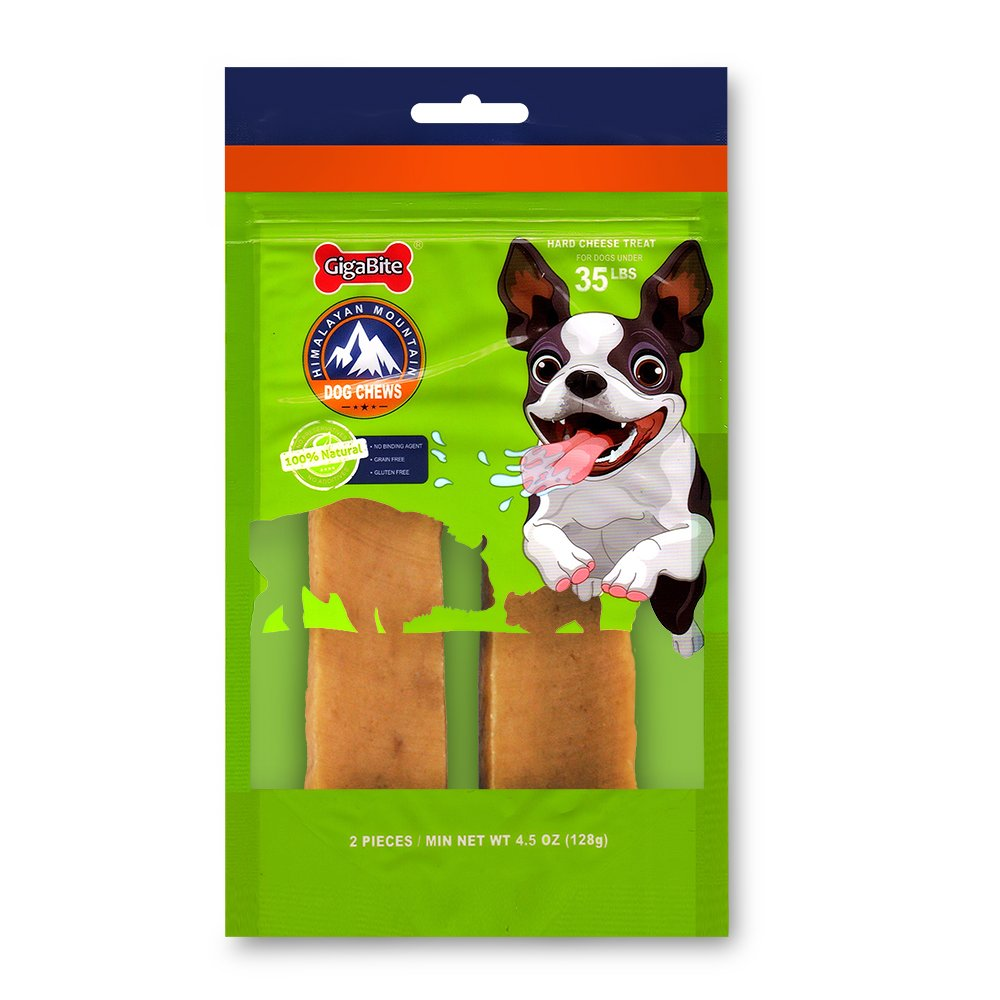 Best Pet Supplies 2 Piece Himalayan Mountain Cheese Treat for Dogs, Medium